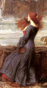Miranda, The Tempest - John William Waterhouse crop