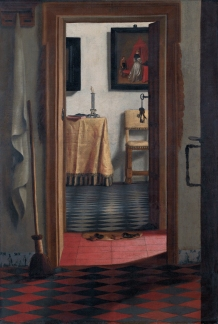Perspective of a dutch interior viewed from a doorway *oil on canvas *103 x 70 cm *1642 - 1678